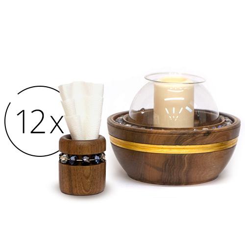 Atribút full-set-candle-holder-and-12-napkins-holders | natalis-luxus.com}}