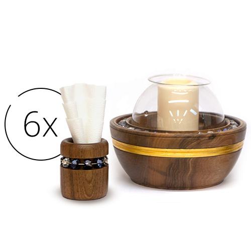 Atribút full-set-candle-holder-and-6-napkin-holders | natalis-luxus.com}}
