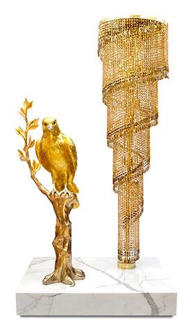 KADDOUR Crystal Chandelier floor Lamp | Natalis Luxus