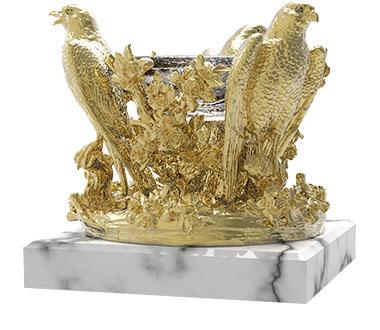AMBROSIA Golden crystal bowl | Natalis Luxus