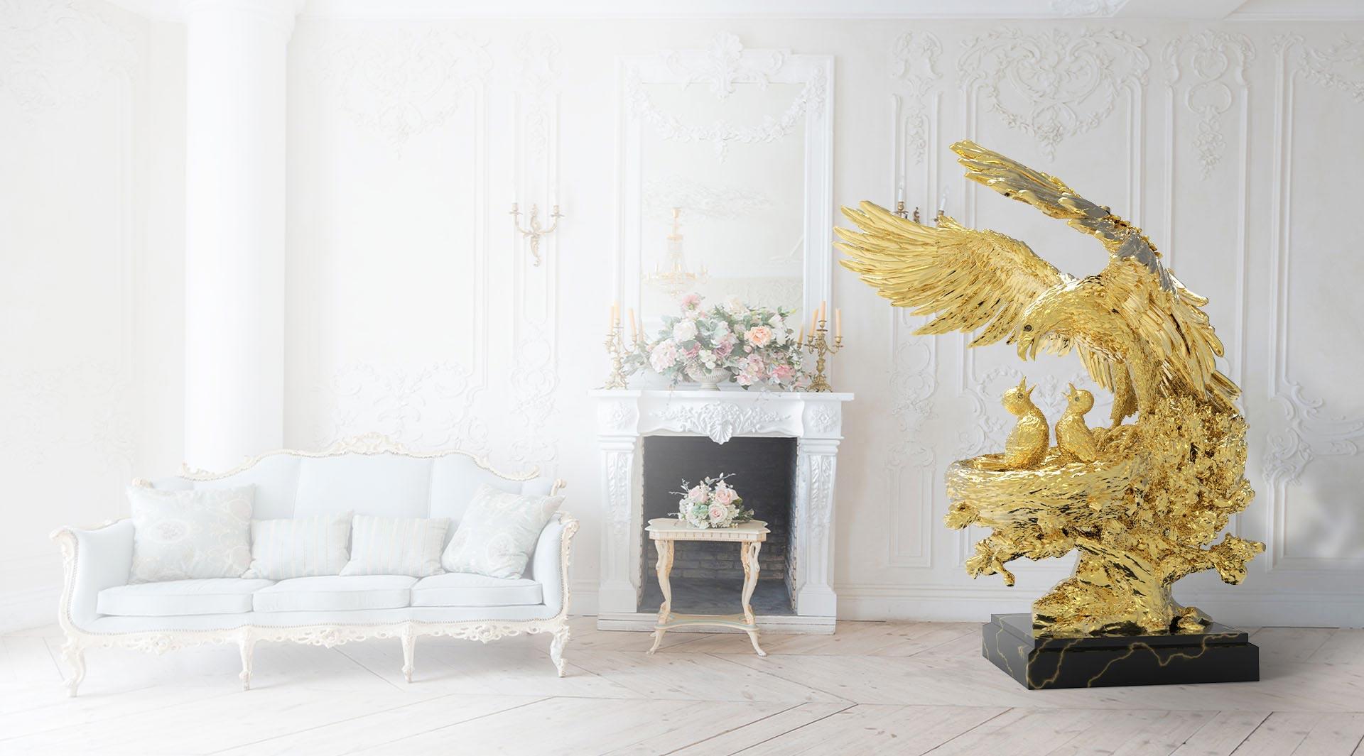 ANATOLIOS Golden sculpture  'Eagle Nest' | Natalis Luxus