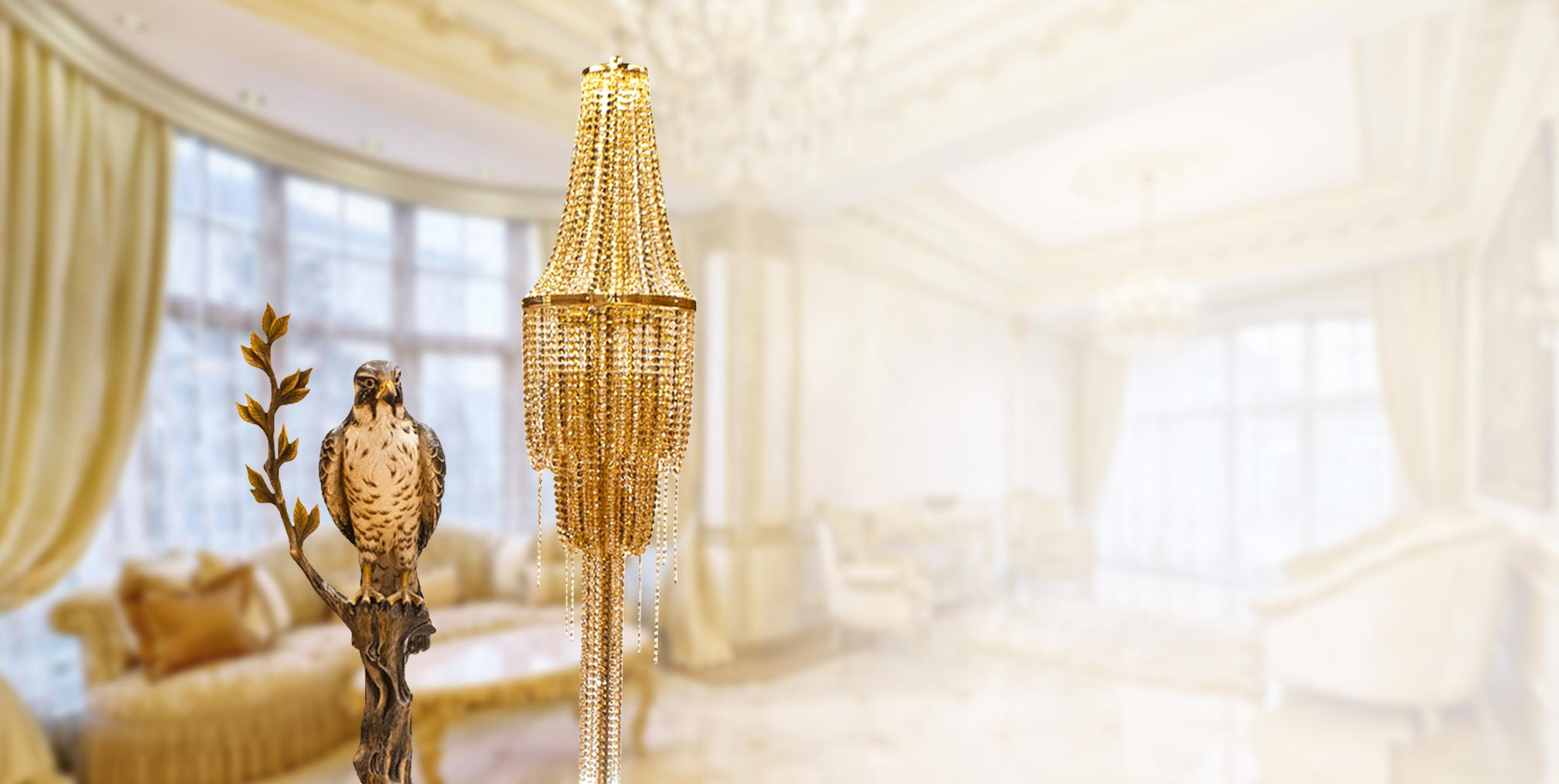 Crystal Chandelier floor Lamp ABDELKADER | Natalis Luxus